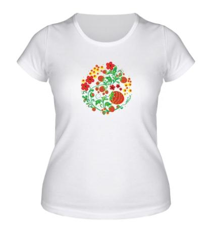 Женская футболка Хохломская роспись