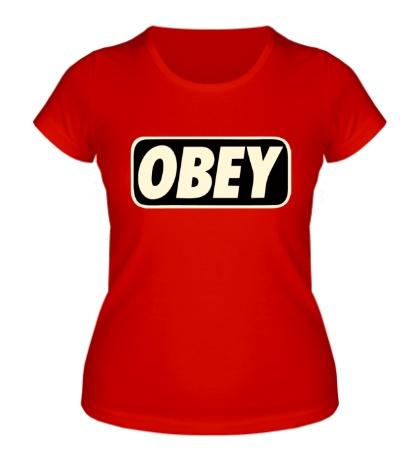 Женская футболка Obey Glow