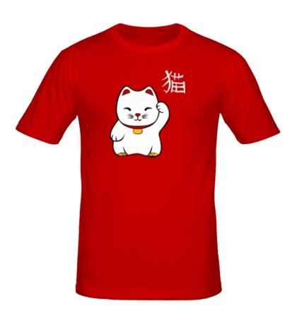 Мужская футболка Манэки-нэко