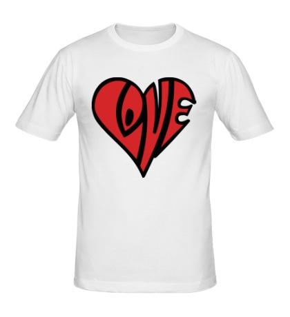 Мужская футболка Love сердце