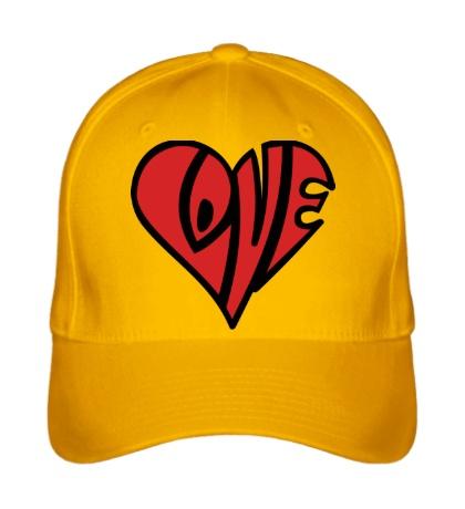 Бейсболка Love сердце