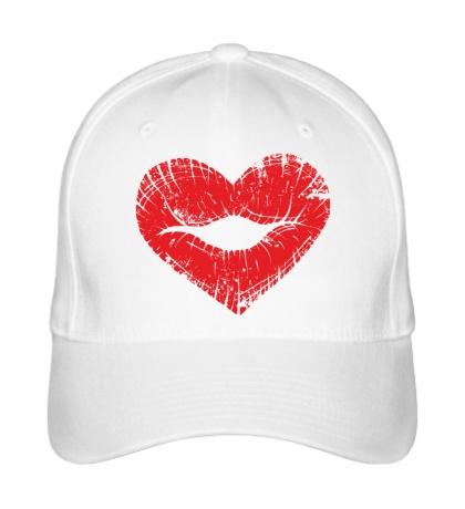 Бейсболка Поцелуй губы в виде сердца