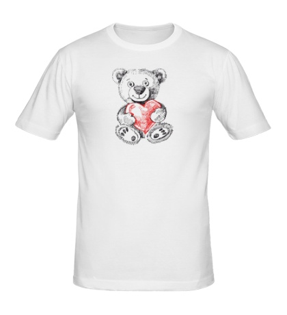 Мужская футболка Мишка с сердцем