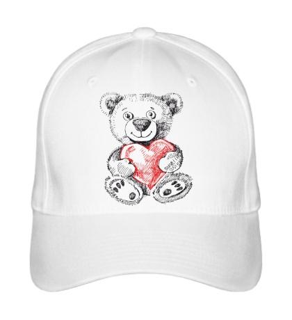 Бейсболка Мишка с сердцем