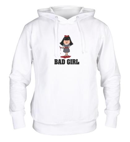 Толстовка с капюшоном Очень плохая девочка