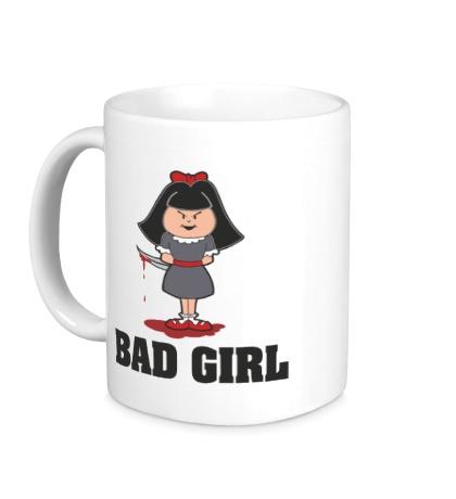 Керамическая кружка Очень плохая девочка