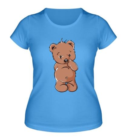 Женская футболка Стестительный мишка