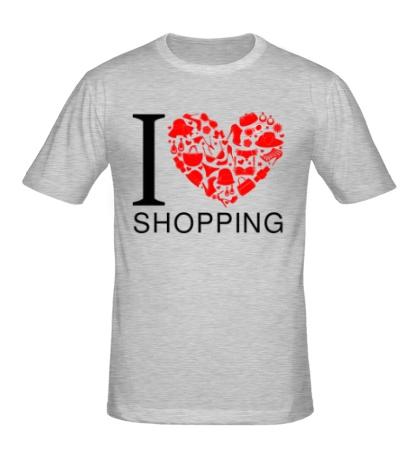 Мужская футболка Я люблю шоппинг