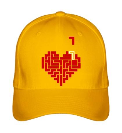 Бейсболка Heart tetris сердце тетрис