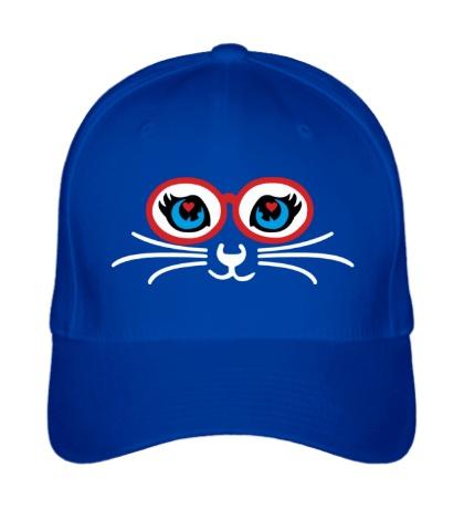 Бейсболка Кошка в очках