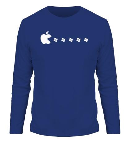 Мужской лонгслив Apple pacman