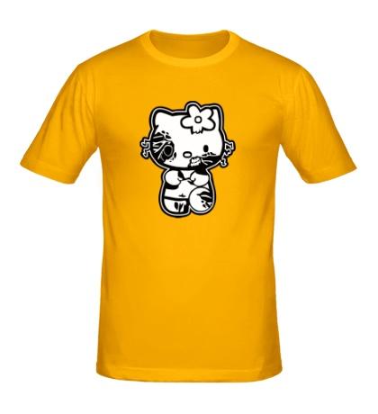 Мужская футболка Kitty zombie