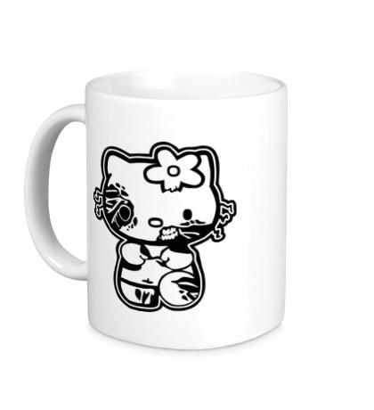 Керамическая кружка Kitty zombie