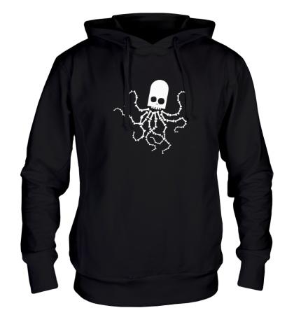 Толстовка с капюшоном Скелет осьминога