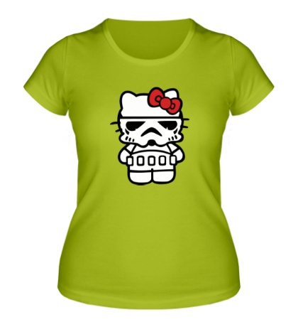 Женская футболка Kitty storm trooper