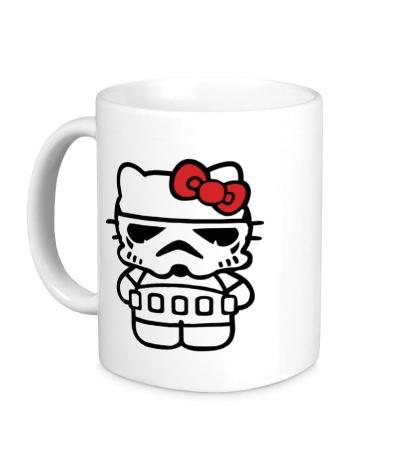 Керамическая кружка Kitty storm trooper