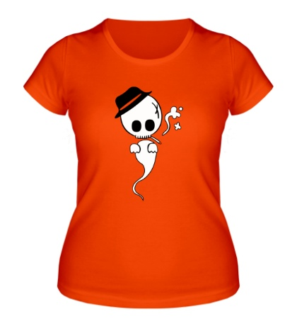 Женская футболка Привидение с сигаретой