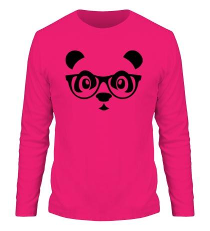 Мужской лонгслив Мордашка панды в очках