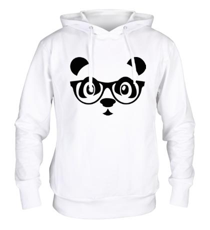 Толстовка с капюшоном Мордашка панды в очках