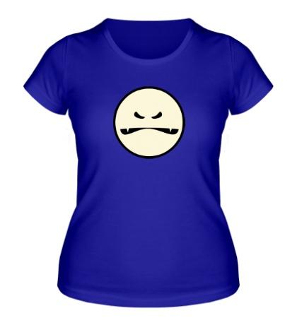 Женская футболка Светящийся смайл-монстр