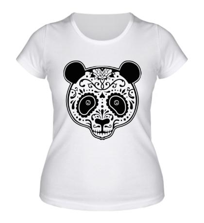 Женская футболка «Расписная панда»