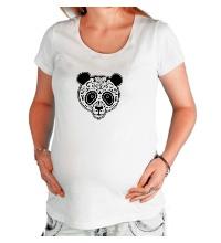 Футболка для беременной Расписная панда