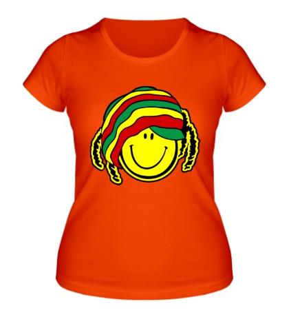 Женская футболка Смайл растаман