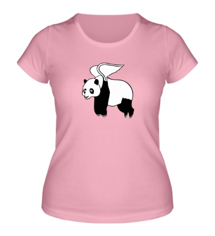 Женская футболка Панда с крыльями