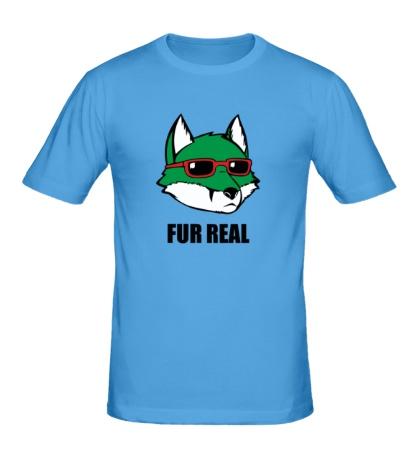 Мужская футболка Зеленая лиса в очках