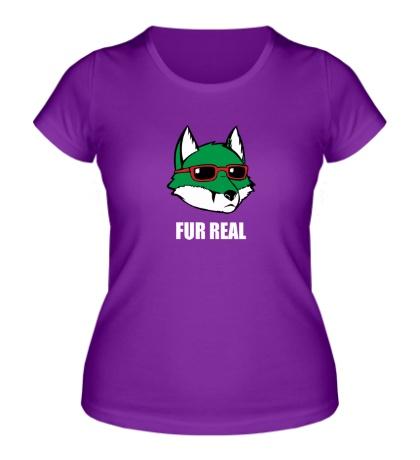 Женская футболка Зеленая лиса в очках