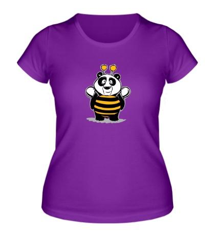 Женская футболка Панда в костюме пчелки