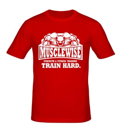 Мужская футболка Musclewise Train Hard