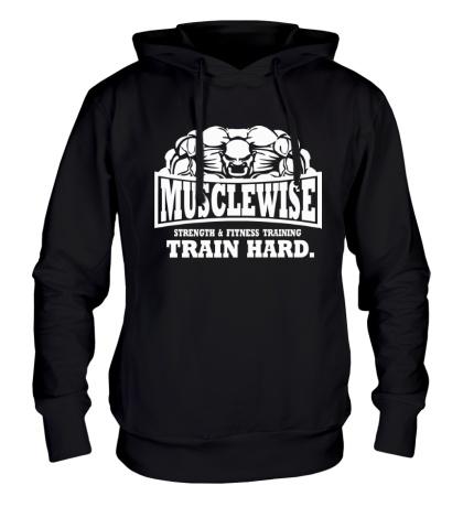 Толстовка с капюшоном Musclewise Train Hard