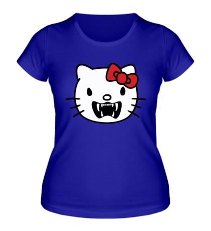 Женская футболка Злая китти