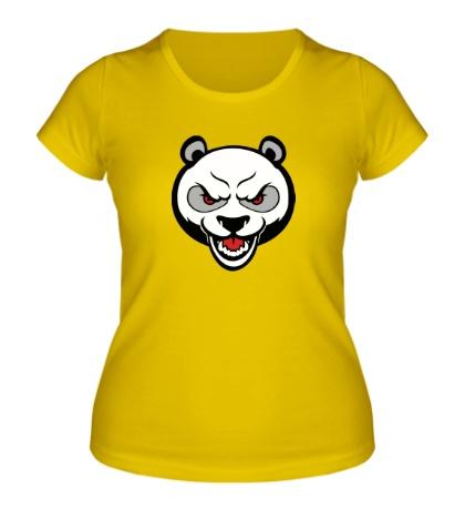 Женская футболка Аngry panda