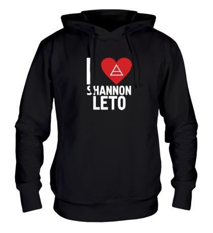 Толстовка с капюшоном I love Shannon Leto