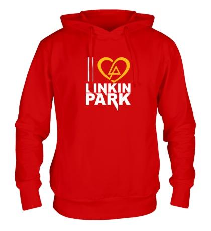 Толстовка с капюшоном I love linkin park