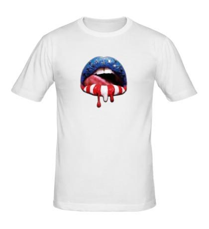 Мужская футболка «Сладкие губы»