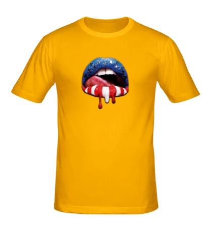 Мужская футболка Сладкие губы