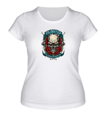 Женская футболка Dubstep Skull