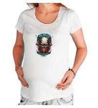 Футболка для беременной Dubstep Skull