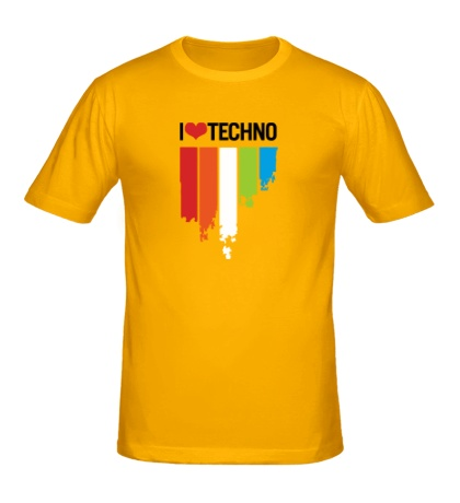 Мужская футболка «I love Techno Colors»