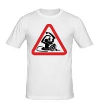 Мужская футболка Обезьяна с гранатой