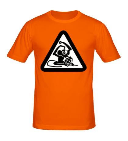 Мужская футболка «Обезьяна с гранатой»