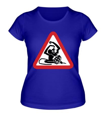 Женская футболка Обезьяна с гранатой