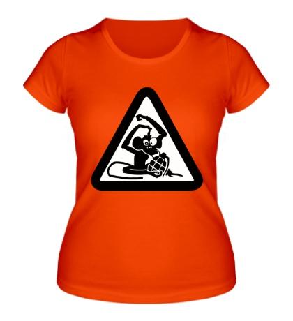 Женская футболка «Обезьяна с гранатой»