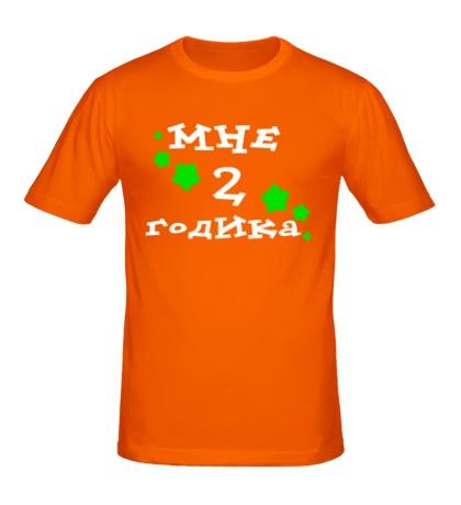 Мужская футболка «Мне 2 годика»