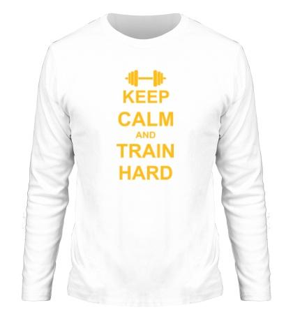 Мужской лонгслив «Keep calm and train hard»