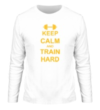 Мужской лонгслив Keep calm and train hard
