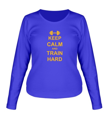 Женский лонгслив Keep calm and train hard